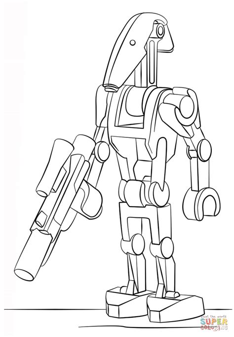 star wars droid coloring page lego battle droid coloring page free printable coloring