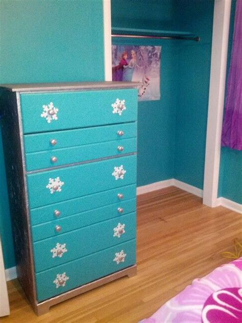 Frozen Dressers by Frozen Dresser With Glitter On Top Our Future Home