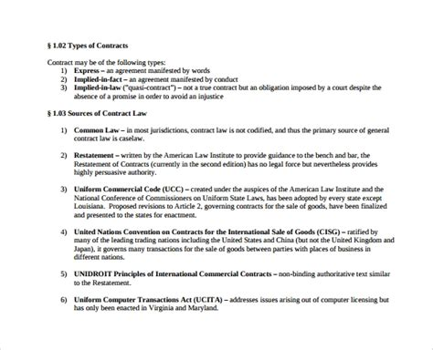 Sle Contract Summary Template 10 Free Documents In Pdf Deal Agreement Template