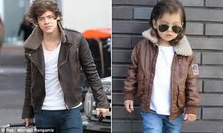 this 2 year old harry styles mini me is showing one harry style s look a like toddler michael rangamiz is an