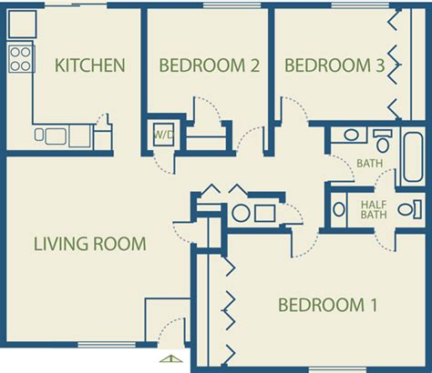 three bedroom apartment plan 3 bedroom apartment plans home design