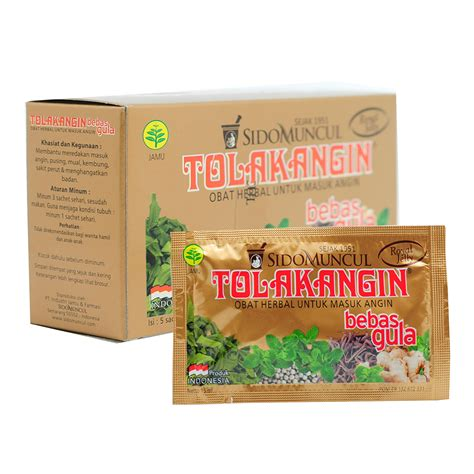 Bodinafit Herbal Flu Dan Masuk Angin sido muncul 5 sachet tolak angin cair bebas gula herbal