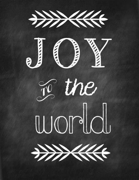 printable version of joy to the world free christmas chalkboard printables