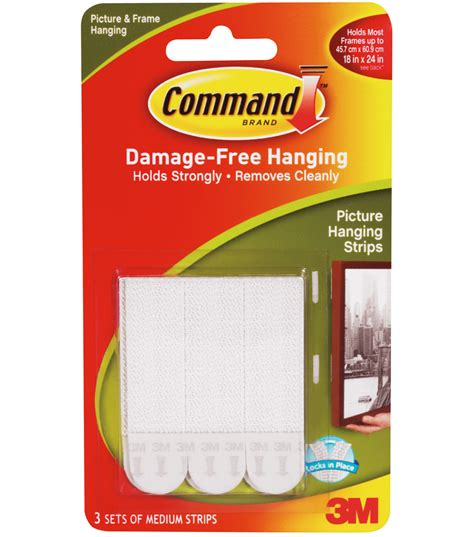 command medium picture hanging strips jo ann command medium picture hanging strips 5 x2 75 3 set