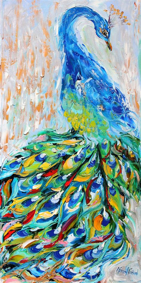 printable fine art fine art print peacock made from image of oil painting by