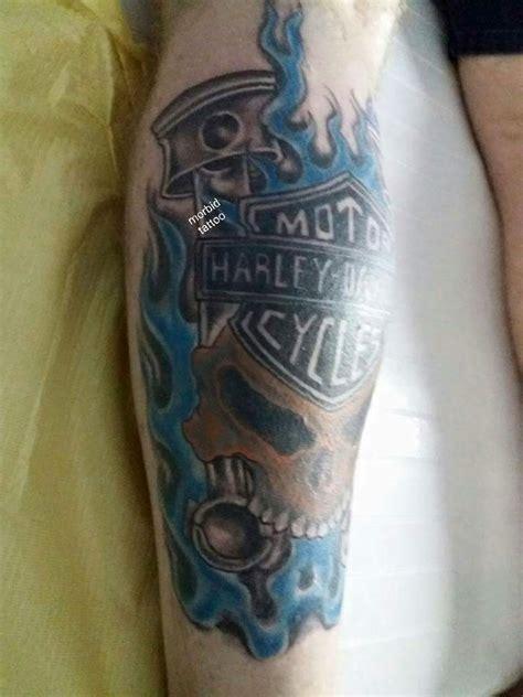 harley davidson skull tattoos harley davidson skull piston and flames