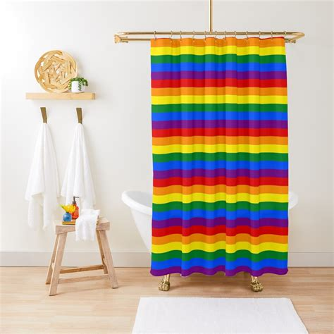 Gay Pride Shower Curtain By Modology Redbubble