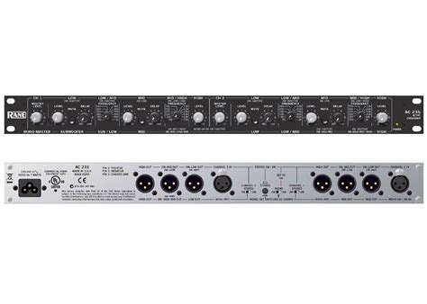 rane pro audio ac 23s rack mount active crossover stereo 2