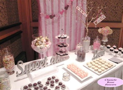 candy tables for wedding   Chanele Rose Flowers Blog