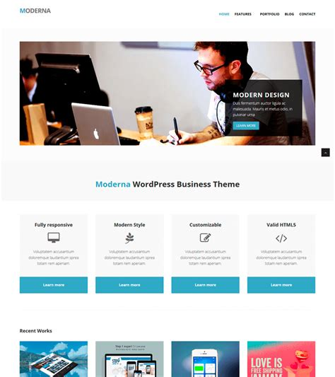 free bootstrap template for corporate moderna