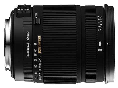 Specs Sigma sigma 18 250mm f 3 5 6 3 dc os hsm specifications and