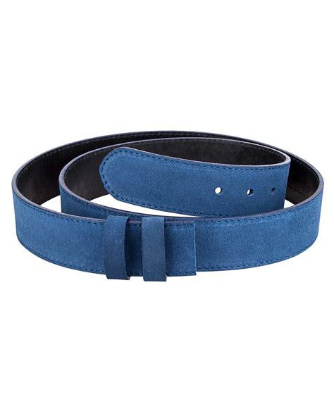 buy wide blue suede leatherbeltsonline