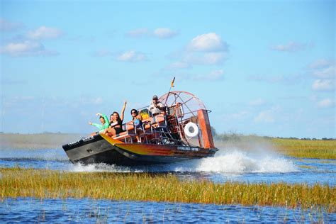 fan boat tours miami everglades airboat adventure with transportation