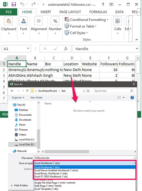 Csv Format To Xlsx | 5 free csv to excel converter for windows convert csv to xlsx
