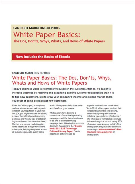 White Paper Template sle white paper template 12 free documents in pdf word