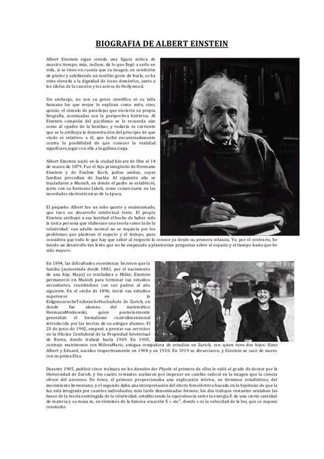 albert einstein biografia corta biografia resumida de albert einstein biografia de albert