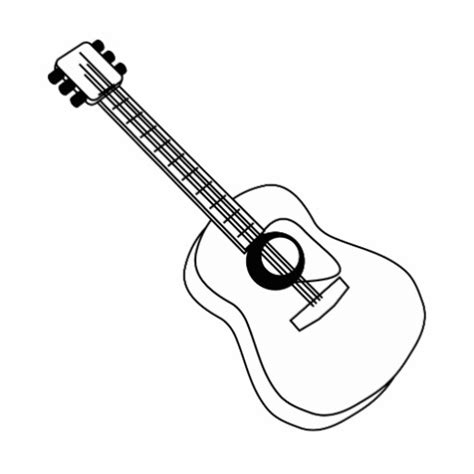 Guitar Clipart Outline by Guitar Outline Cliparts Free Clip Free Clip On Clipart Library