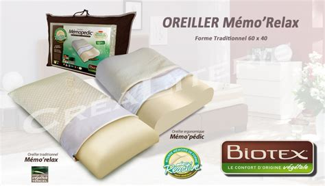 Oreillers Biotex by Oreiller Biotex M 233 Morelax 224 M 233 Moire De Forme V 233 G 233 Tale 224