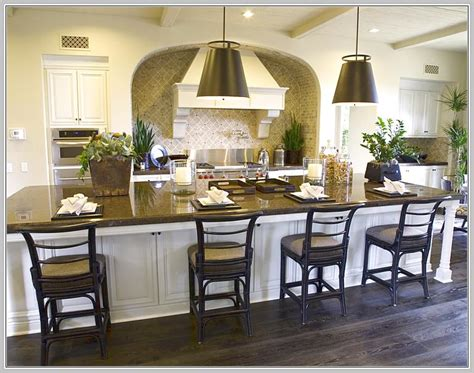 large kitchen island with seating and storage home
