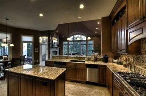 nice kitchen designs photo beautiful coordination of granite and tile kitchen