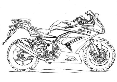 kawasaki ninja coloring pages ninja motorcycle lineart by whispered time on deviantart