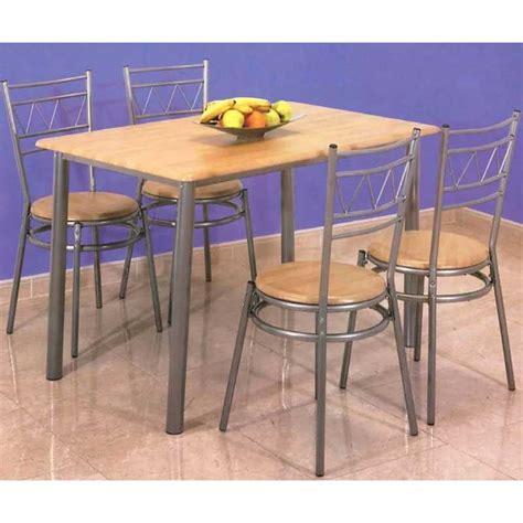 conjunto de mesa  cuatro sillas  cocina miel