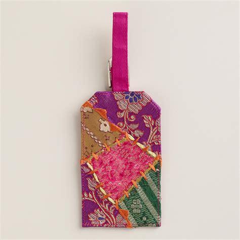 Sari Patchwork - sari patchwork luggage tag world market
