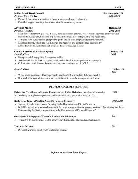 Exles Of Human Resources Resumes by Human Resources Assistant Resume The Best