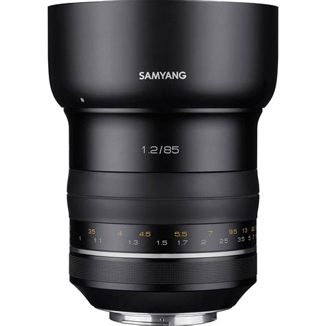 Samyang For Canon Xp 85mm F 1 2 samyang xp 85mm f 1 2 lens for canon ef syxp85 c b h photo