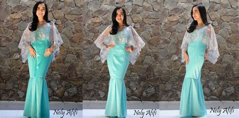 Kebaya Pengantin Duyung baju gaun pesta cape brocade model duyung