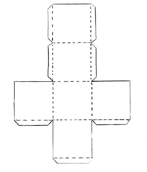 Paper Folding Cube - paper folding crafts templates