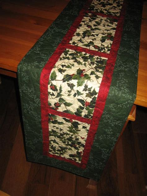 pattern quilted table runner christmas christmas table runners christmas tables and red berries