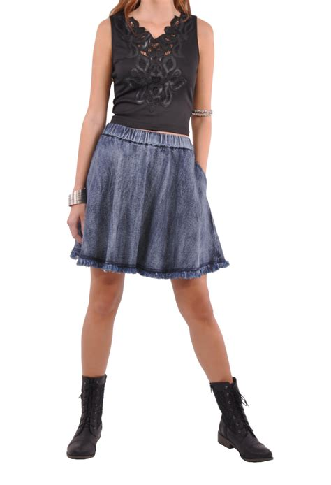 Wakai Blue Denim 39 43 flare blue denim skirt sh 0585 from style j skirts
