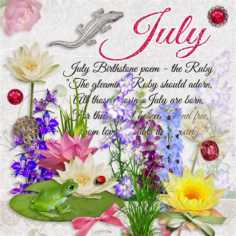 the color of water in july what is july birthstone color and flower monthly