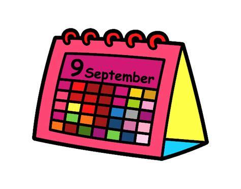 Calendario Y Sus Dibujos Dibujo De Calendario De Mesa Pintado Por En Dibujos Net El
