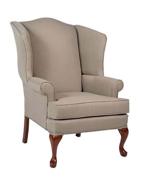 Beige Wingback Chair by Erin Beige Wing Back Chair Accent Chairs