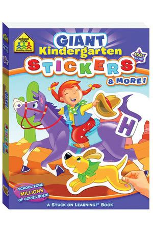 School Zone Kindergarten Stickers And More Workbook reading mastery reading literature strand grade 1
