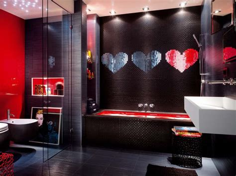 red bathroom decorating ideas red and black bathroom decorating ideas room decorating