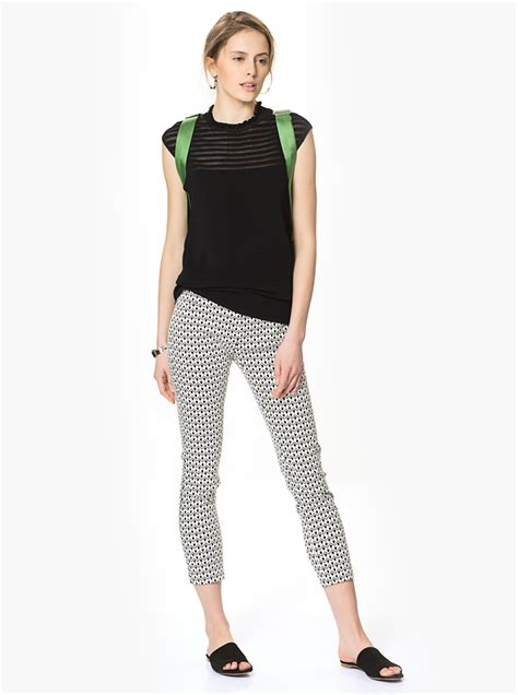 black and white patterned jeans roman women black and white patterned skinny pants