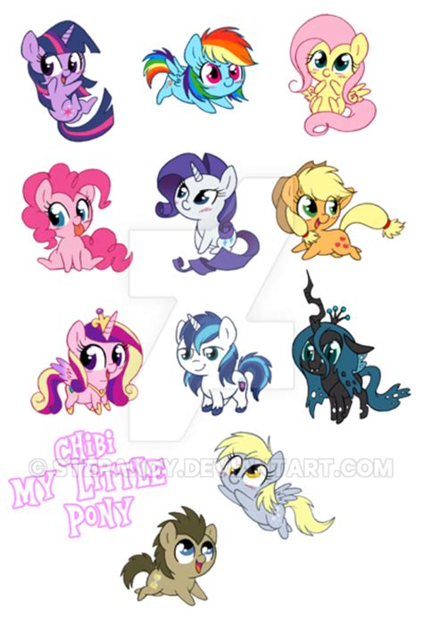 imagenes kawaii mlp chibi my little pony by stepandy on deviantart