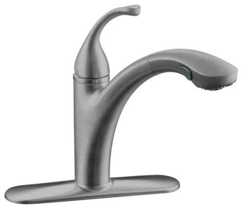 kohler pull out spray kitchen faucet traditional