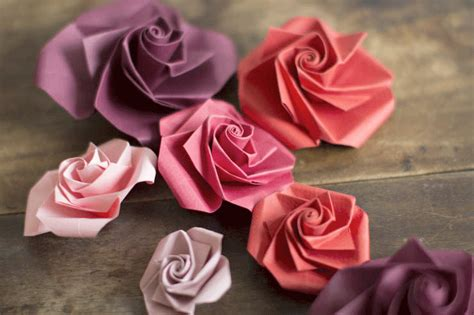 Origami Paper Roses - diy origami paper flowers make my lemonade