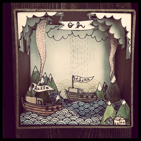 How To Make A Diorama Out Of Paper - lovely diorama by illustrator weeber paper works