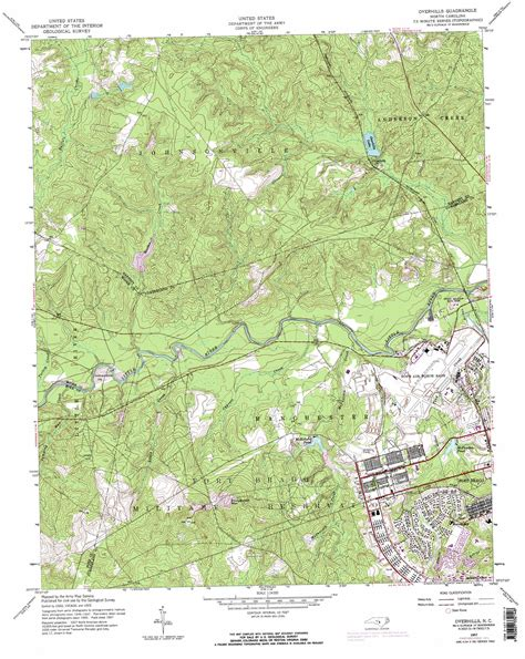 topographic map of carolina overhills topographic map nc usgs topo 35079b1