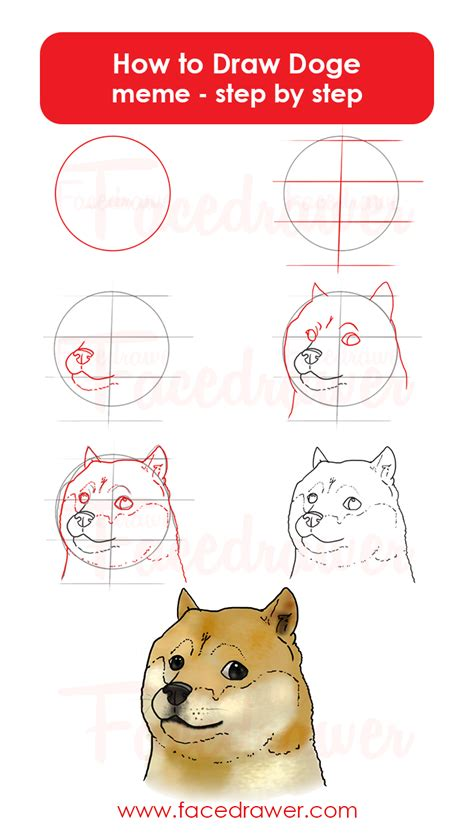 doge shiebe meme step by step drawing lesson learn how to