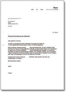 Antrag Stellen Vorlage antrag auf teilzeitarbeit vorlage teilzeit antrag auf