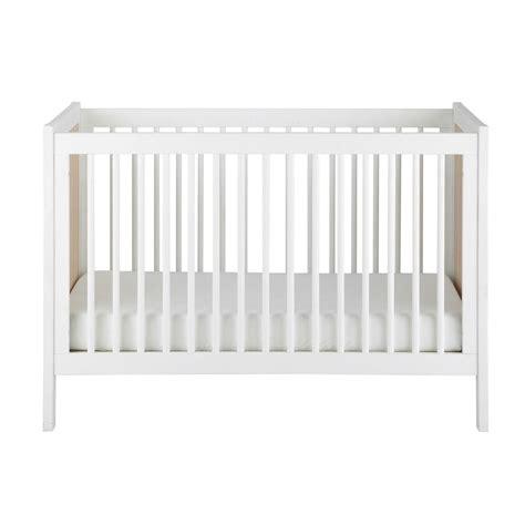 lettino o per neonato lettino con sbarre per neonato in legno bianco l 126 cm