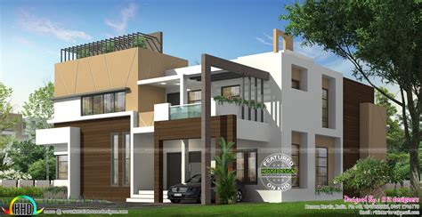 5 bedroom modern house luxurious 5 bedroom ultra modern home kerala home design