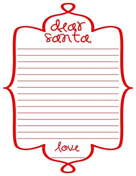 cornici per lettere d by day crafter by free printable dear santa