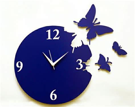Kode C036 Blue Butterflies 110 wanduhren mit attraktivem design archzine net